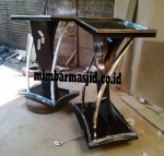 Model Podium Kayu Jati Kombinasi Stainless